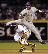 Padre Throwbacks (AP Photo/Denis Poroy)