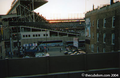 "Wrigley Field from the Addison St. ""L"" station"