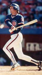 Ryne Sandberg in the old Cubs home alternate jerseys