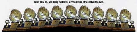 Ryne Sandber's 9 Gold Gloves